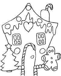 Easy Printable Christmas Coloring Pages House Page