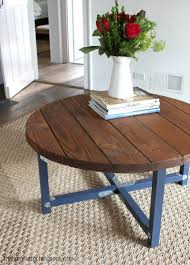Diy Farmhouse Dining Table Inspirational Plans To Build A Round Rustic Coffee Top 2