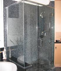 black pebble tile in bathroom shower remodeling ideas