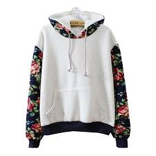 korean students joining together color flowers hooded fleece from