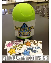 Bathroom Pass Ideas For Kindergarten by Bathroom Passes All Students Can Shine