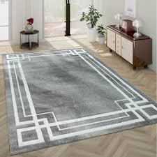 kurzflor teppich wohnzimmer klassisch bordüre