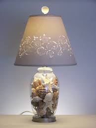 cool fill a glass l base with sea shells and set a picture of