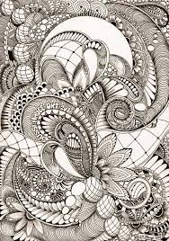 Line Doodles Zen Doodle Patterns Ink Art Coloring Books Colouring Zentangles Tangled Pencil