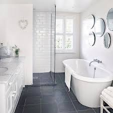 Renovated White Bathroom Via Housetohome
