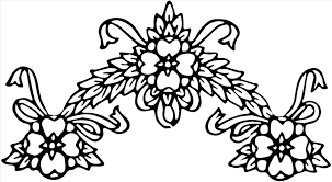 black and white clipart vintage floral s clip art image collection u with vintage christmas wreath border black and white floral s