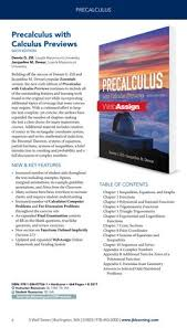 Page 6 PRECALCULUS Precalculus With Calculus Previews