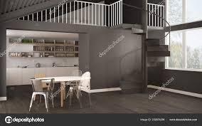 100 Mezzanine Design Minimalist White Gray Kitchen Modern Spiral