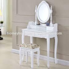 coiffeuse bureau coiffeuse avec miroir chambre bureau avec tabouret blanc