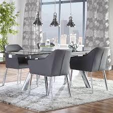 Eagan Arm Chair   Dark Gray   Set Of 2
