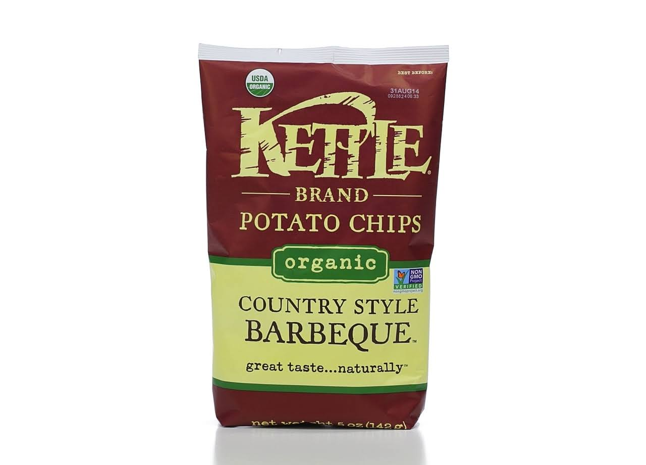 Kettle Brand Organic Potato Chips - Country Style Barbeque