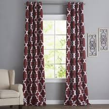 Red Dining Room Curtains