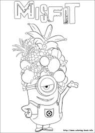 Minions Coloring Pages On Book