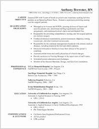 Sample Resume Nurse No Experience Elegant New Grad Nursing Objectives Registered Objective Of