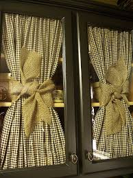 Primitive Living Room Curtains by Love The Checked Fabric U0026 Burlap Ribbon Really Like The Look Of