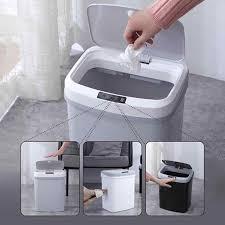 mülleimer sensor home intelligente abfall bins automatische induktion elektrische mülleimer müll papierkorb für küche bad heißer