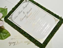 Rustic Garden Fairytale Moss Wedding Invitation Sets Custom