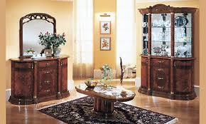 vitrine wohnzimmer esszimmer schrank nussbaum hochglanz