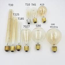 2018 wholesale antique retro vintage 40w 220v edison bulb e27