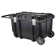 Husky 37 In. Mobile Job Box Utility Cart Black-209261 - The Home Depot
