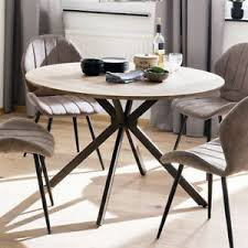 details zu esstisch firenze esszimmer tisch küchentisch mdf wildeiche anthrazit 120x120 cm