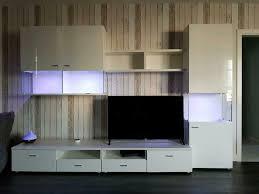 wohnwand tv wand mit led beleuchtung farbwechsel