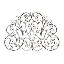 Antique Wrought Iron King Headboard by Wrought Iron Headboards Foter