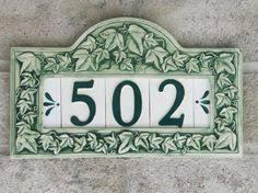 ceramic house number 纐zlem menekay ceramic house number