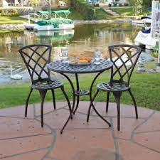 Cast Aluminum Patio Sets by Outdoor Patio Furniture 3pc Cast Aluminum Bistro Set Ebay