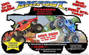 100 Snake Bite Monster Truck DecemberFirestoneFlier Bigfoot 44 Inc Racing Team