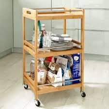 miadomodo küchenwagen servierwagen holz rollwagen
