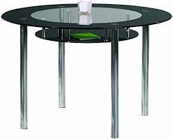 links 50200500 esstisch küchentisch glastisch esszimmer tisch küche rund glas schwarz 115 cm