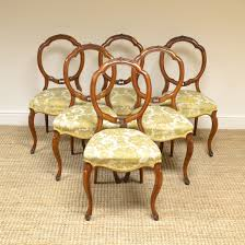 Set Of Six Victorian Walnut Antique Balloon Back Chairs ... Antique Victorian Ref No 03505 Regent Antiques Set Of Ten Mahogany Balloon Back Ding Chairs 6 Walnut Eight 62 Style Ebay Finely Carved Quality Four C1845 Reproduction Balloon Back Ding Chairs Fiddleback Style Table And In Traditional Living Living Room Upholstery 8 Upholstered Lloonback Antique French