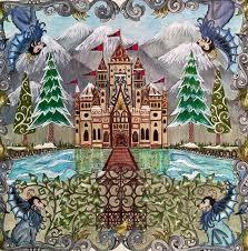 Castle Gate Enchanted Forest Castelo Portao Floresta Encantada Johanna Basford Adult ColoringColoring BooksColoring PagesColouringColored