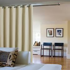 separateur de chambre ponydance séparateur de pièce rideau polyester beige