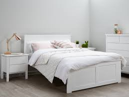 Double Bed Frame White Modern