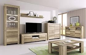 furniture24 wohnzimmer set wohnwand sky tv schrank vitrine hängeregal kommode sideboard couchtisch country grau