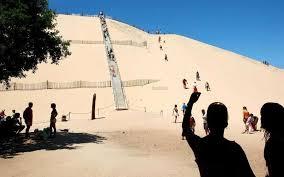 bassin d arcachon l escalier de la dune du pilat en place jusqu