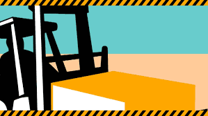 2d Video Footage Animation Of A Forklift Truck With Crate Box Loading Lifting Materials Handling Stock 2802538