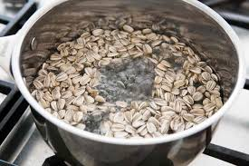 Dry Roasted Shelled Pumpkin Seeds by How To Harvest And Roast In Shell Sunflower Seeds Recipe