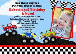 Monster Truck Personalized Invitation | Boy Invitations By Uprint ... Monster Contruck Invitation Invite Pics Of Truck Fresh Birthday Invitations Personalized Invitation Boy By Uprint Etsy Party Ideas At In A Box 50 Off Sale 2nd Svg And Printable Clipart To Make Nice 94 In Design With Frozen Elsa Anna Trucks Food Jam Supplies Monster Truck Birthday Truck Birthday Party Invites Tonys 6th Bday