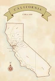 Map Of California Counties Circa 1850
