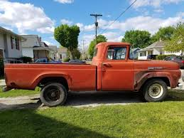1960 Ford F250 3 4 ton Pickup W Matching 1960 Truck Bed Trailer