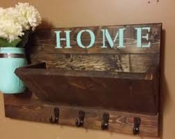 Rustic Mail HolderHome DecorHome Sign Wooden Holder Organizer
