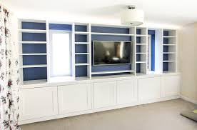 Tv Cabinet In Large Living Room Built Units On A Long Wall