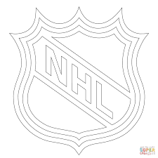 NHL Logo Coloring Pages Printable