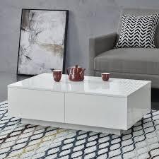 en casa couchtisch kagiso wohnzimmertisch mit 4 schubladen 95x60x31cm weiß hochglanz kaufen otto