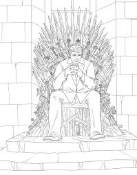 Cool Coloring Pages Iron Throne Irons