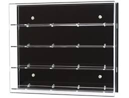 Acrylic Wall Display Case Choice Of Number Shelves And Back Colour