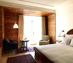 Cozy Wooden Hotel Style Bedroom